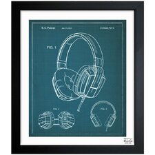 Headphones 2010 Framed Graphic Art