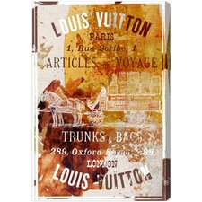Articles De Voyage Vintage Advertisement on Canvas