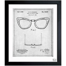 Ray-Ban Wayfarer Spectacle Frame 1953 Framed Graphic Art