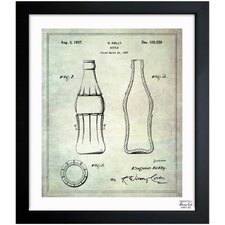 Coca Cola Bottle 1937 Framed Art