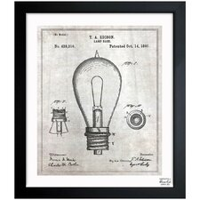 Edison Lamp Base 1890 Framed Graphic Art