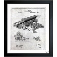 Type Writing Machine 1896 Framed Graphic Art
