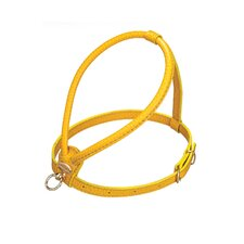 Fashion Leather Dog Harness in Yellow