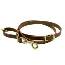 Classic Adjustable Leather Dog Leash