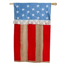 Patriotic Star and Strip Vertical Flag