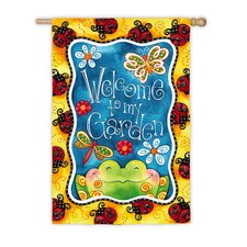 Welcome To My Garden Vertical Flag