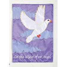 Wings of an Angel Applique Cemetary Garden Flag