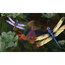 Sublimated Silk Reflections Dragonfly Floormat