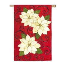 Poinsettia Polka Dots Garden Flag