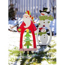 Garden Décor Santa and Snowman Christmas Decoration