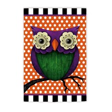 Whimsy Owl Garden Flag