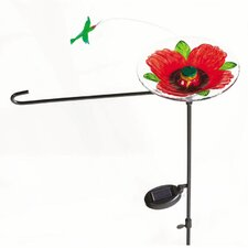 Hummingbird Solar Flagpole Light
