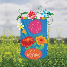 Spring Flowers Garden Flagpole