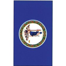 Print Virginia State Applique 2-Sided Garden Flag