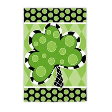 Patterned Shamrock Garden Flag