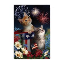 Patriotic Kittens Garden Flag
