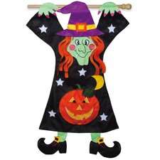 Hang on Witch Garden Flag
