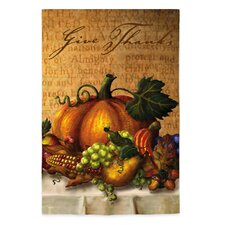 Give Thanks Table Garden Flag