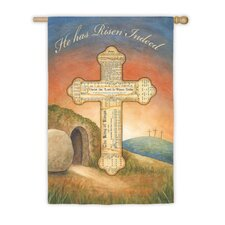 He Has Risen Garden Flag
