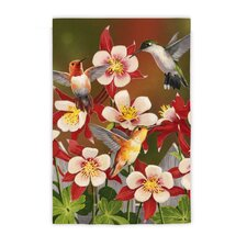 Flurry of Hummingbirds Garden Flag