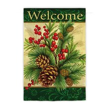Winter Pine Regular Garden Flag