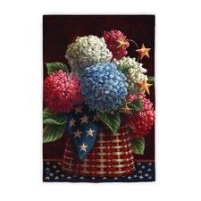 <strong>Evergreen Flag & Garden</strong> Patriotic Blooms Garden Flag