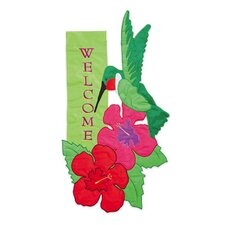 Hummingbird Beauty Garden Flag