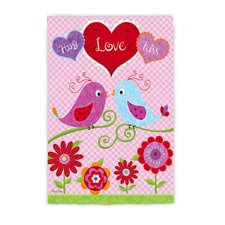 <strong>Evergreen Flag & Garden</strong> Love Birds Garden Flag