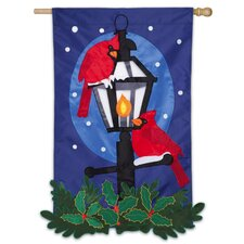 Holiday Lamplight Garden Flag