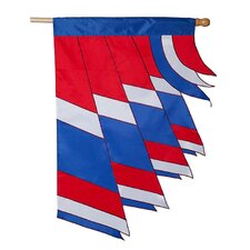 Corner Patriotic Wind Spirit Vertical Flag