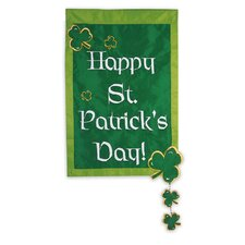 Happy St. Patrick's Day 2-Sided Garden Flag