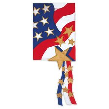 3D Stars and Stripes 2-Sided Garden Flag