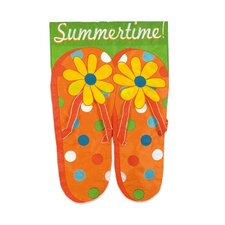 Summertime Flip Flops 2-Sided Garden Flag