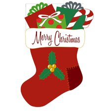 Merry Christmas Stocking 2-Sided Garden Flag