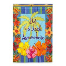 5 O'Clock Somewhere 2-Sided Garden Flag