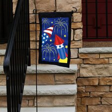 Fireworks Applique Garden Flag
