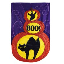 Boo To You! Applique Garden Flag