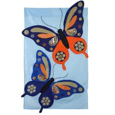 Butterflies with Sequins Garden Flag