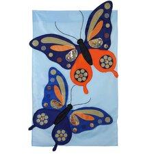 Butterflies with Sequins Garden Flag