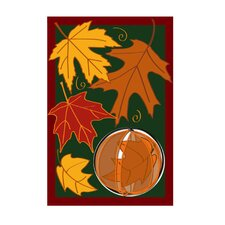 <strong>Evergreen Flag & Garden</strong> Spinning Leaves Applique Garden Flag