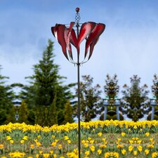 Abstract Tulip Spinner Kinetic Garden Stake