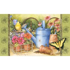Sublimated Silk Reflections Watering Can Floral Floormat