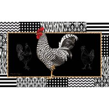 <strong>Evergreen Flag & Garden</strong> Sublimated Silk Reflections Rooster Floormat