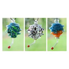 Swirled Decorative Hummingbird Feeder (Set of 3)