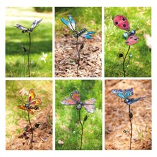 Butterfly, Ladybug and Dragonfly Garden Stake (Set of 3)