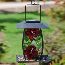 <strong>Evergreen Flag & Garden</strong> Hummingbird Flutter Solar Bird Feeder