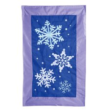 Snowflake Flurries Applique Garden Flag