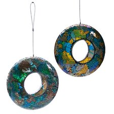 Glass Circle Decorative Bird Feeder