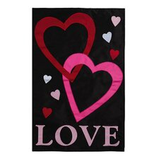 Love Applique Garden Flag