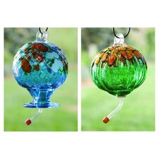 Speckled Decorative Hummingbird Feeder (Set of 2)